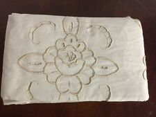 "BEAUTIFUL CHINA BRAID TWIN BATTENBURG LACE WITH SCALLOPED EDGES DUVET ""A"""