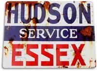"""Hudson Essex Service"" Oil Gas Station Car Auto Shop Garage Rustic Sign"