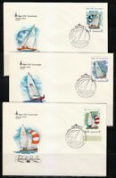 Russia 1978 set of 5 FDC covers Moscow-80 Olympic Games.Regata Yacht.Sc B79-B83
