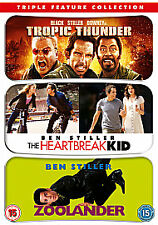 Tropic Thunder, heartbreak Kid, Zoolander Ben Stiller   New Sealed - 3 x DVD set