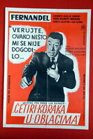 VIRTUOUS BIGAMIST FERNANDEL 1956 EXYU MOVIE POSTER