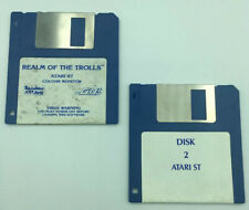 """Realm of the Trolls Computer Game 1987 Atari 520 St 1040 St 3.5"""" Disk Vintage"""