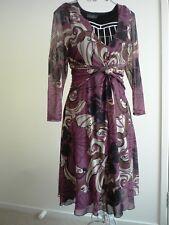 JACQUI E -LOVELY FLORAL PATERN DRESS sz S