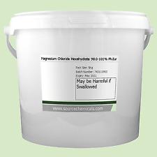 Magnésium Chlorure Hexahydraté (Dead Sel de Mer) 5Kg Inclus Livraison