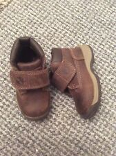 Fantastic boys brown leather Timberland boots infant size 4 vgc