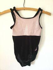 Gk Elite Gymnastics Leotard Child Small CM Pink Black Velvet Foil Sparkle Toy