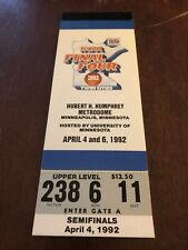 AUTHENTIC 1992 NCAA FULL FINAL FOUR TICKET STUB DUKE MICHIGAN INDIANA CINCINNATI