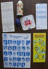 Odd Lot Baseball Memorabilia: Cricket Lighter Shell,1940's Club Player Form,etc