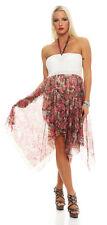 5605 Cocktailkleid Sommer Knielanges Chiffon-Kleid dress 6 Farben