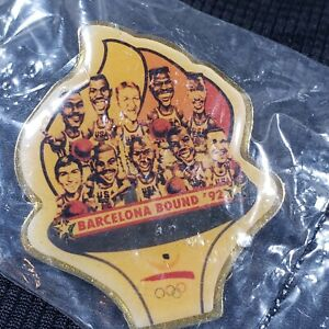 1992 USA Basketball Olympic Team Barcelona Bound RARE Vintage Pin Jordan