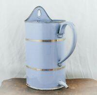 Enamel Enema Bucket French Enamelware Spout pot Container Jug Medical Device
