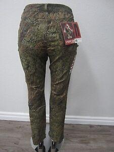 NWT Mossy Oak Brush 5 Pocket Camo Jeans with Stretch Women's Pants Size 10