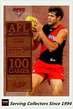 2012 Select AFL Champions Milestone Card MG16 Patrick Ryder (Essendon)