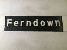 "Hampshire / Dorset Vintage Linen Bus Blind 30"" (sec)- Rare Ferndown"