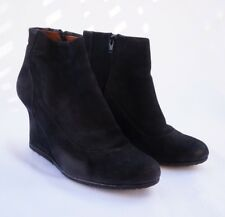 LANVIN SUEDE WEDGE BOOT