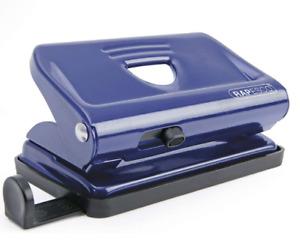 Rapesco Hole Punch A4 A5 A6 Office Desk Metal Puncher 12 Sheet Capacity Blue