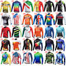 Miloto Mens Long Sleeve Cycle Jersey Top Full Zip Bike Cycling Long Shirt S-XXXL