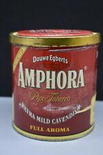 "Vintage Douwe Egberts Amphora Pipe Tobacco Tin, 5 1/2"" T, 5"" W.  Holland – Empty"