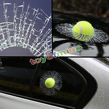 2016 Car Sticker Window Creative 3D Tennis Ball Hit Windshield Decal Decoration