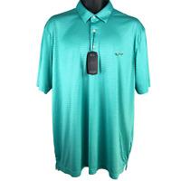 NWT Greg Norman Mint Green Short Sleeve Polo Style Golf Shirt Men's Size XL