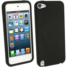 Black Silicone Skin Case for Apple iPod Touch 6th 5th Generation itouch Cover