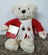 "Adorable Hallmark Musical Christmas Bear~Plays ""Jingle Bells"""