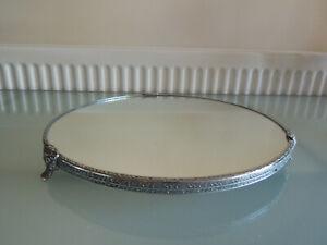 Vintage Large Circular Mirror Display Stand
