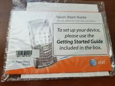Blackberry User Tools and Quick Start Guide at&t , new,