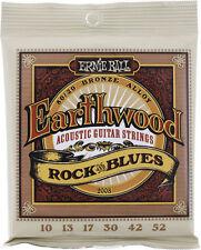 Ernie Ball Earthwood Rock & Blues 10-52 Acoustic Strings. Plain 'G'.P/No 2008