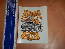 1960's RAT FINK ED ROTH WATER SLIDE DECAL PLYMOUTH GTX  NOS