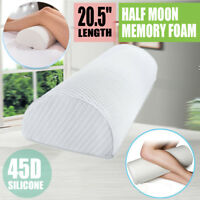 Bolster DShape Half Moon Memory Foam Pillow Leg Back Neck Lumbar Support