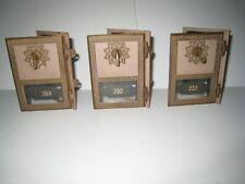 Three PO mail box doors with keys