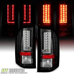 2007-2013 Chevy Silverado 1500 2500 3500 Black LED [Pyro Tube] Tail Lights Lamps