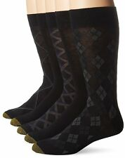 Gold Toe Men's Diagonal Plaid Fashion Socks, Assorted Colors, 5 Pairs