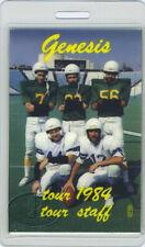GENESIS 1984 MAMA TOUR LAMINATED BACKSTAGE PASS Staff