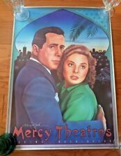 Vntg Bogart Bergman Casablanca Movie Poster From/ Mercy Theathers 1982 Cng533