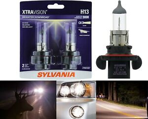Sylvania Xtra Vision 9008 H13 65/55W Two Bulbs Head Light Replacement DOT Stock