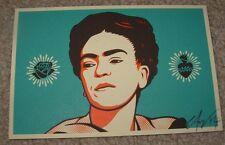 ERNESTO YERENA Print FRIDA KAHLO portrait Handbill poster shepard fairey