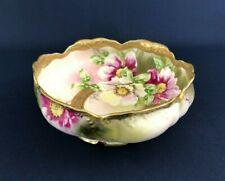 Antique large hand painted porcelain bowl NIPPON 1891 - 1921 Japan
