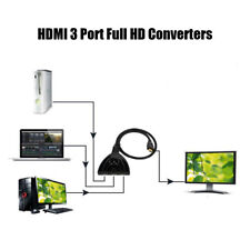 3Port HDMI Switch Splitter HD Converter TV Video Cable Interconnect 1080P Parts