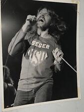 "Bob Seger Michigan State University Authentic Photo Original 70's By Drew 8""x10"""