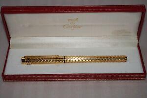 Must de Cartier Gold pen Tintenfüller original Feder aus 750er Gold
