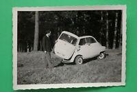 1x Foto Auto Oldtimer ISO BMW Isetta 1950-1960er Kennzeichen Ingolstadt Car +++