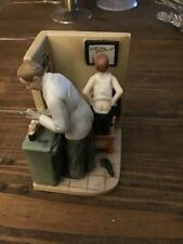 """Norman Rockwell 6"""" Figurine """"At The Doctor'S Office"""" Made For Goebel United Sta"""