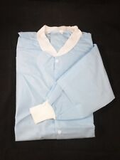 10/pk Broadline Disposable Lab Jacket/Coat Knit Collar & Cuffs Waist Length
