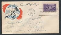 1939 Phillies Vintage Baseball Signed Postal Cover (8 Signatures + RARE) JSA!
