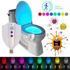 UV Desinfektion LED Licht Toilettendeckel Nachtlicht Motion Sensor 8 Farben DE