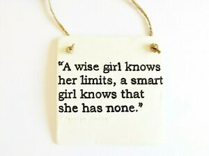 Smart Girls Inspiring Life Quote Wall Plaque Home Decor Positive Gift For Her