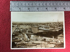 Genova Italia port / harbour photograph vintage postcard 1935