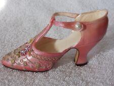 Popular Imports Inc Resin Pink Floral Shoe Figurine